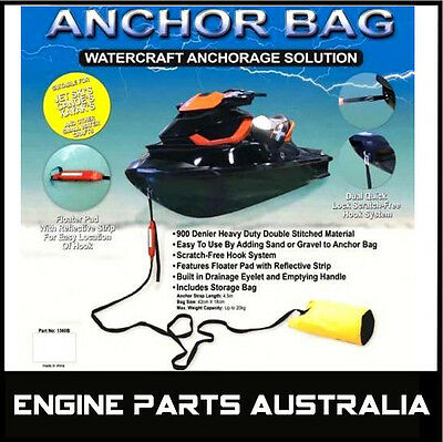 Sand Anchor Bag For Watercraft Jetski Canoe Tinnie Kayak Pwc Dinghy Jet Ski