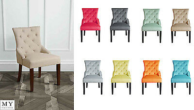 High Quality Upholstered Scoop Back Dining Chair - TORINO