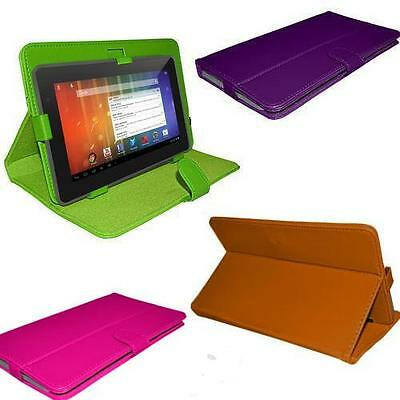 """Luxury 7"""" inch Android Tablet PC Leather Case Cover Folio Stand with stylus"""