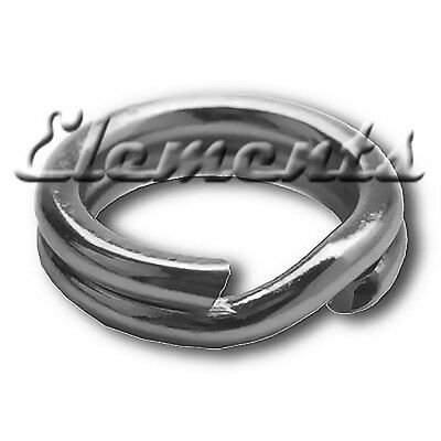 5 Strong Solid Sterling 925 Silver 7Mm Split Jump Rings Link Charm To Bracelet
