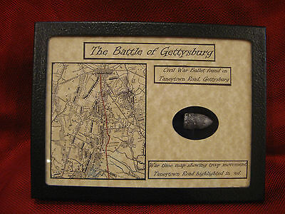 ***The Battle of Gettysburg Dropped Bullet in Matted Display Case with COA***