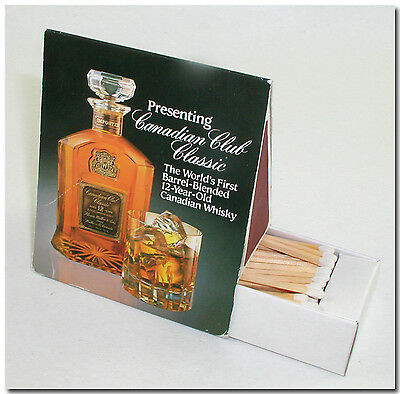 Canadian Club Classic Whisky Table Tent Stick Wooden Matches Advertisement
