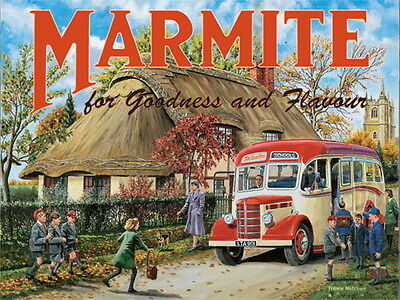 Marmite, Cottage Classic Bedford Coach, Advertising Large Metal/Tin Sign Picture
