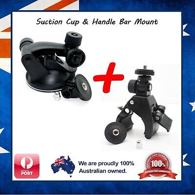 GoPro Suction Cup & Handlebar Mount Clamp for Go Pro Hero 5 / 4 / Session Jaws