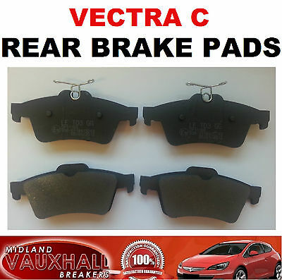 Vauxhall Vectra C Signum Set Of Rear Back Brake Pads 1.8 1.9 2.2 Sri Cdti Dti