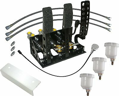 Universal Floor Mount Bulkhead Fit Hyd Clutch Race Pedal Box Gold Kit OBPVIC03