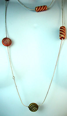 Elegant Multi Stone Long Necklace Stylish Trendy Fast Delivery! Brand New!! (A1)
