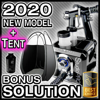 Black Spray Tanning Machine + Black Tent Kit - Hvlp Sunless Tan Gun Unit - New
