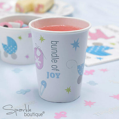 Baby Shower/Christening PAPER CUPS -Unisex Party- FULL TINY FEET RANGE IN SHOP!