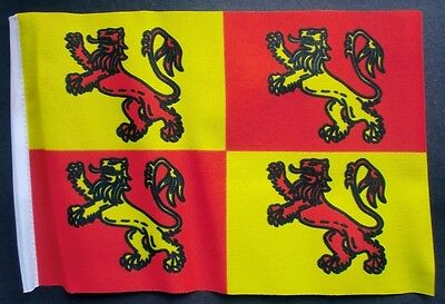 """OWAIN GLYN DWR  WALES BUDGET FLAG small 9""""x6"""" GREAT FOR CRAFTS WELSH"""