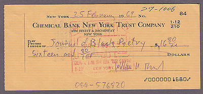Journal Of Black Poetry 1969 Joseph Goncalves Autographed Check Original