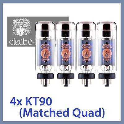 4x NEW Electro Harmonix KT90 EH KT90EH Power Vacuum Tubes, Matched Quad TESTED