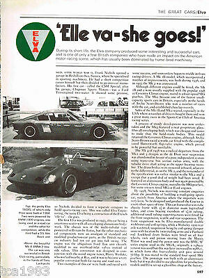 ELVA Cars History Article / Photos / Pictures: COURIER,160