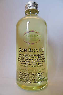 Aromatherapy All Natural Rose Bath Oil - calming/ balancing/ romantic