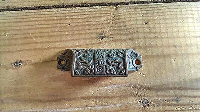 Victorian Cast Iron Drawer Pull-Old-Restored- Beautiful