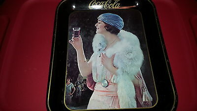 Coca Cola Tray Reproduction of Rectangle Advertising Tray Coke Girl Betty #2