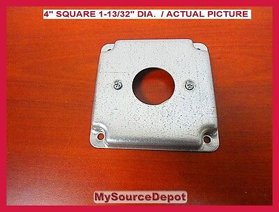 """THOMAS & BETTS, RS-11 (Pack of 50) 4"""" SQUARE COVER,1-13/32 DIA.SINGLE RECEPTACLE"""