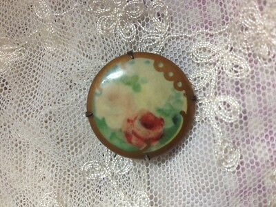 ANTIQUE ROSES BROOCH ~SO SHABBBY Sweet~ Hand Painted Shabby Romantic Chic