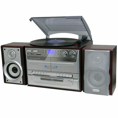Lenoxx Turntable Player/Recorder/MP3 decoder encoder/record/cassette/AM/FM radio