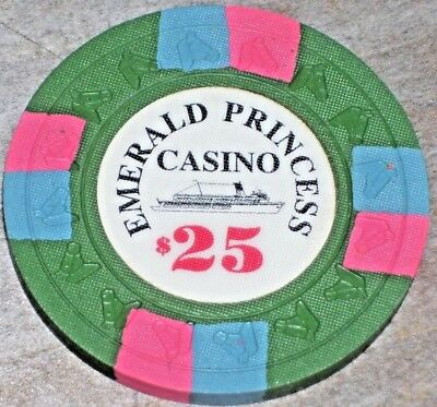 $25 Gaming Chip From The Emerald Princess Cruise Lines Casino