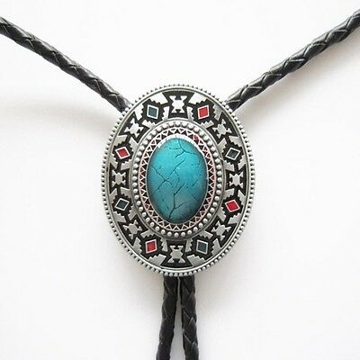 Western Jewelry Southwestern Bolo Braided 4MM Leather Cord W/Engraved Tips