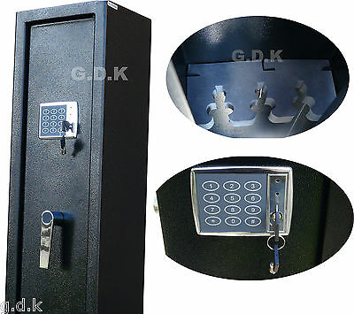 Gdk Digital Vault Locking 3 Gun Cabinet, Shotgun Safe, 2 Scoped Rifle Cabinet,