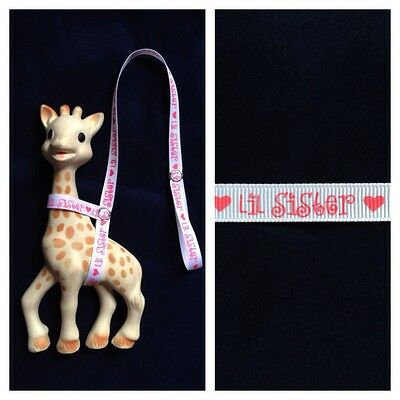 Handmade Sophie the Giraffe Leash Harness Lil Sister Toy Strap Holder