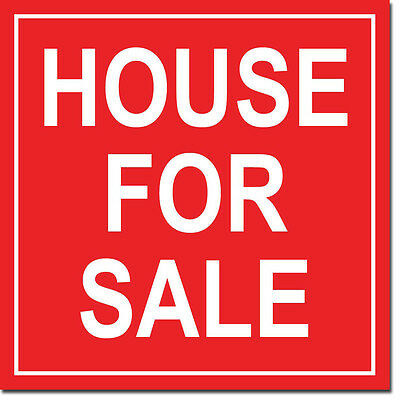 """House for Sale Sign 8"""" x  8"""""""