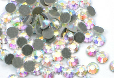STRASS MC Stone collection 50pz SS30 6mm crystal Aurora Boreale termoadesivi ab