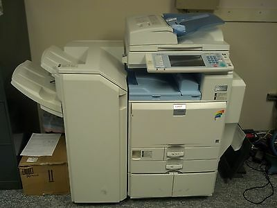 Lanier LD 445C with DF/print/scan/fax/4 trays/staple finisher- 100,000copies