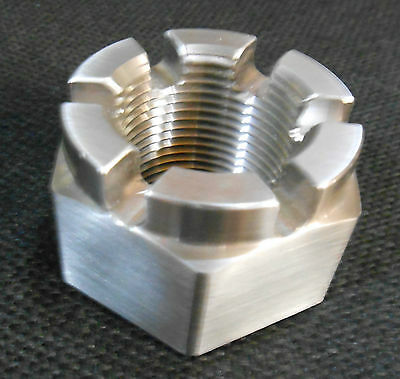 "Stainless Steel Steel Polished Castle Nut 1-1/4""-12 (Gar4-6)"