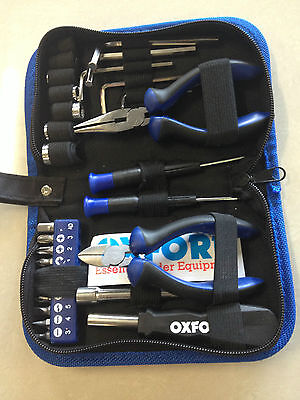 Motorcycle Tool Kit Oxford Underseat 28 Piece Set Packaged In A Compact Set