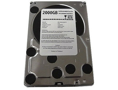 "New 2-Terabyte 2TB 32MB Cache 7200RPM SATA2 3.5"" Hard Drive DVR/PC-FREE SHIPPING"