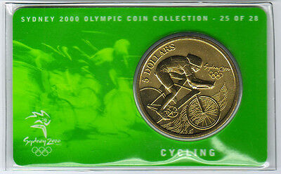 Sydney 2000 Olympic Coin Collection $5 UNC RAM Coin ATHLETICS 1//28