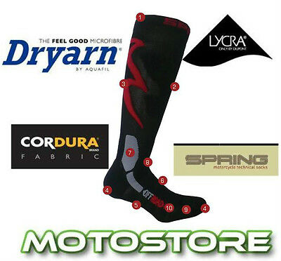 Spring Technical Motorcycle Motorbike Summer Touring Boot Socks Liner Base