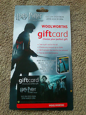HARRY POTTER WOOLWORTHS GIFT CARD Goblet of Fire Film Movie Collectible Shop