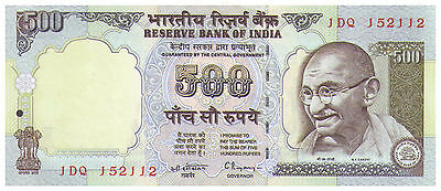 1997 500 Rupees Uncirculated Banknote - India - Pick 92A