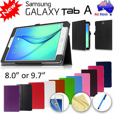 """Premium Flip Leather Case for Samsung Galaxy Tab A 8.0"""" 9.7"""" 7.0"""" 10.1"""" """"S Pen"""""""