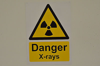 Danger X-Rays Hazard Health & Safety Sign With/Without Holes Or Sticker A4