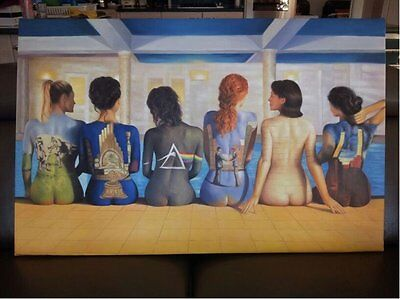 Pink Floyd 40x28 Painting NOT print/poster Framing Avail. Dark Side Animals Bell