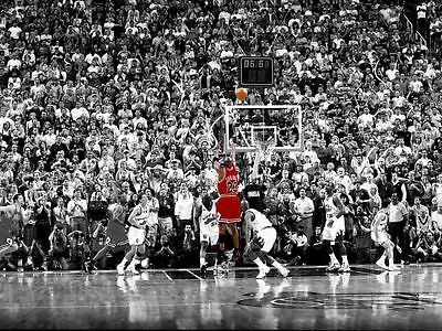 Basketball Michael Jordan The Last Shot Nba Poster Print Art Size A1 /a2 /a4