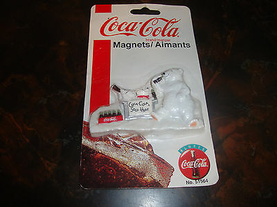 "Coca-Cola---Magnet---3 1/2"" Wide---Factory Sealed---1995"