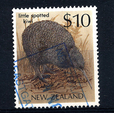 B423  NEW ZEALAND  1989  SG1297  $10 LITTLE SPOTTED KIWI   USED