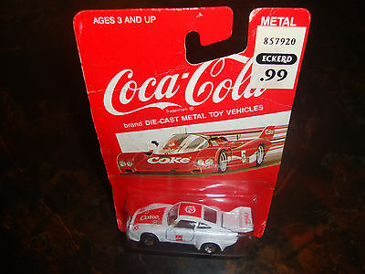 Coca-Cola---1:64 Scale Diecast---White Race Car---#12---Factory Sealed---1988