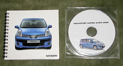 2005 Nissan Frankfurt Motor Show Press Booklet & Cd (English)