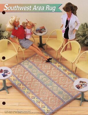 Country Melody Bench ~ fits Barbie dolls Annie/'s plastic canvas pattern leaflet