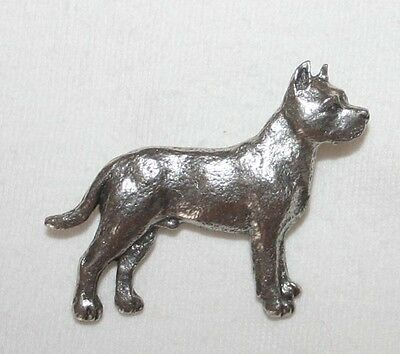 PITBULL Pit Bull Terrier Dog Fine PEWTER PIN Jewelry Art USA Made