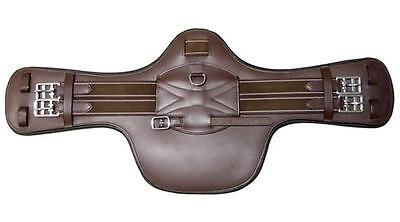 Brown Leather Short Stud Guard Belly Showjumping Girth 70cm