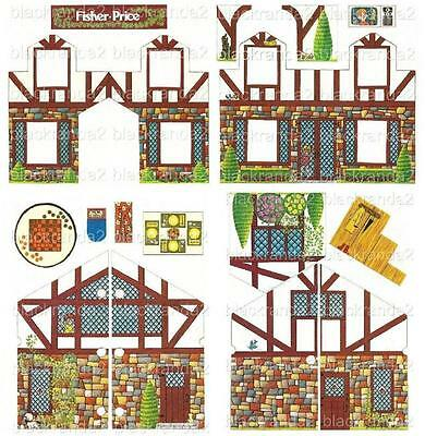 Vintage Fisher Price Little People 952 House Exterior Replacement Lithos Sticker