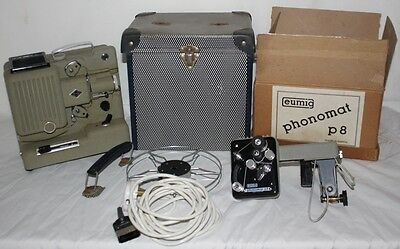 Vintage Collectible Eumig Wien Type P8 Phonomat Movie Projector - FREE Postage